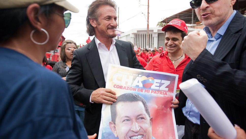 Sean Penn y Hugo Chávez