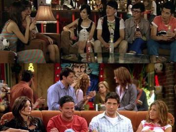 Una escena de las series  'Ipartment' y de 'Friends'