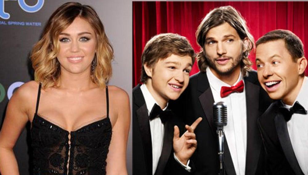 ¿Miley Cyrus en 'Dos hombres y medio?