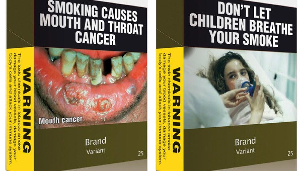 Cajetillas de cigarros en Australia