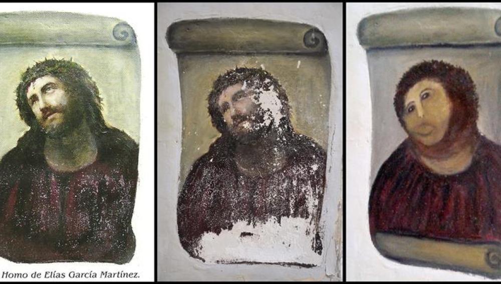 Del Ecce Homo pintado por el artista Elías García Martínez... al restaurado