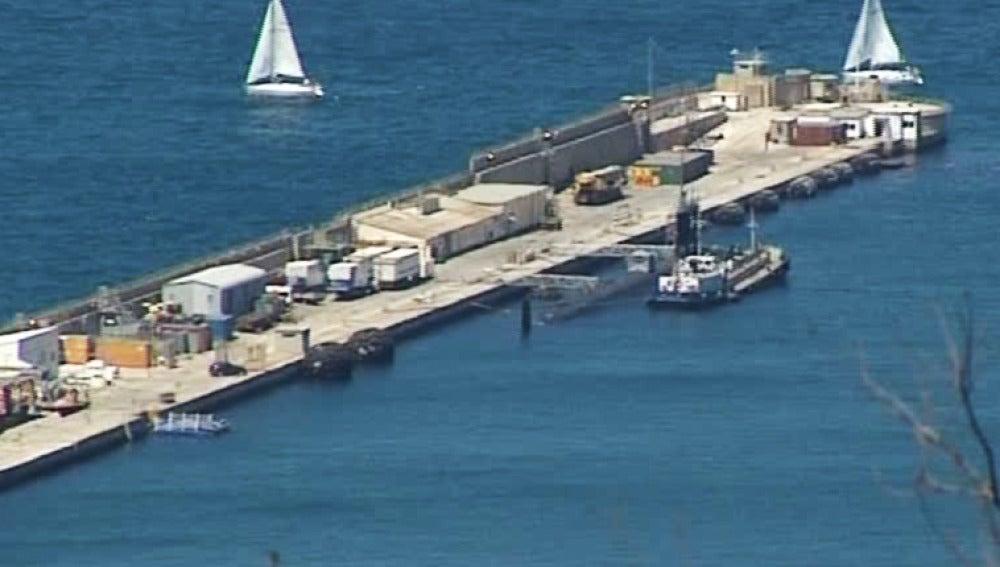 """El submarino nuclear americano """"New Hampshire'"""" ha atracado en la base naval de Gibraltar"""