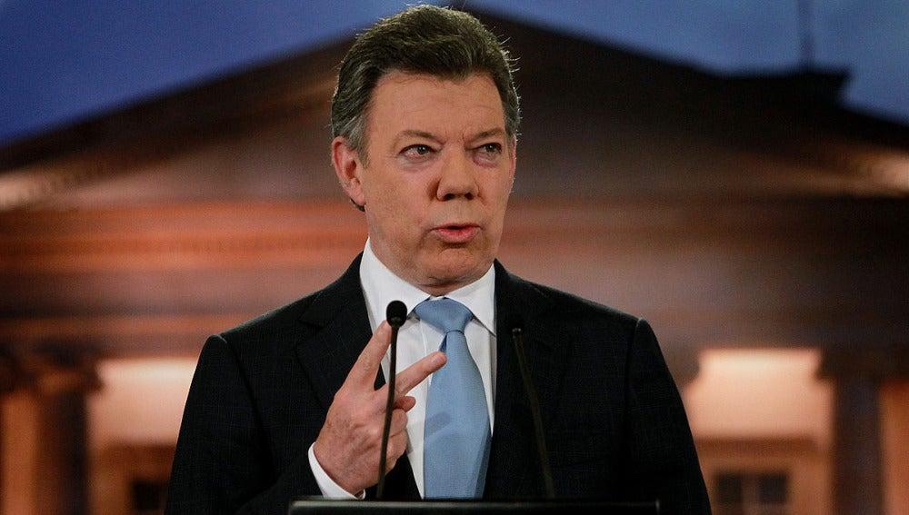 El presidente de Colombia José Manuel Santos