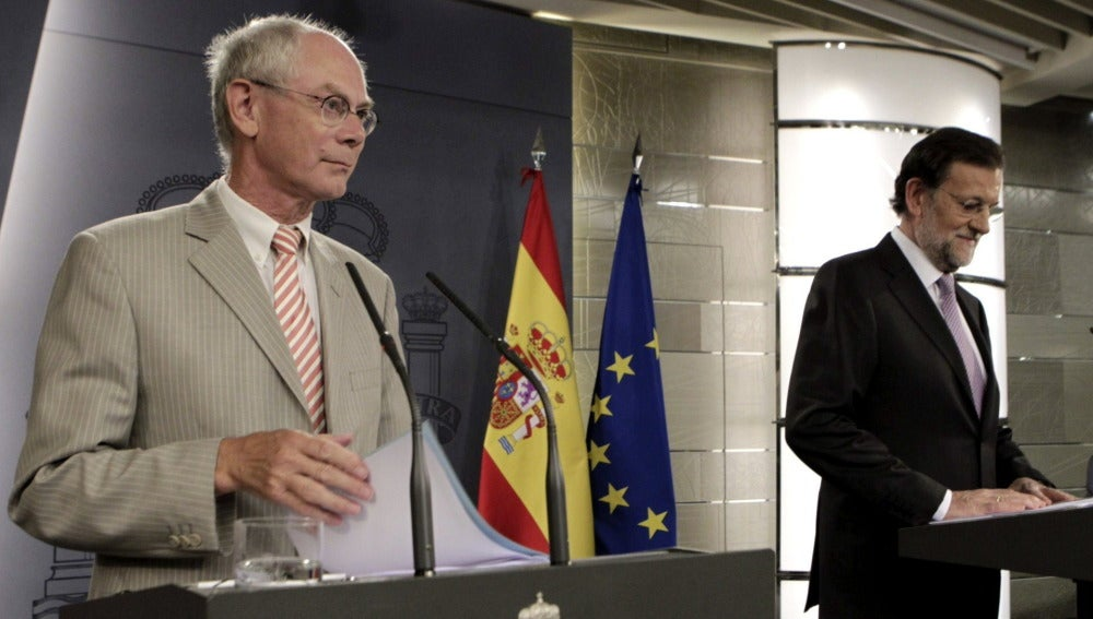 Mariano Rajoy y Herman Van Rompuy