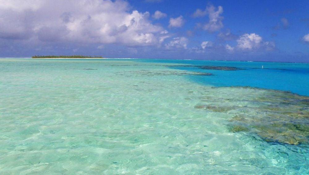 Estas son las cristalinas aguas de Aitutaki, en las Islas Cook