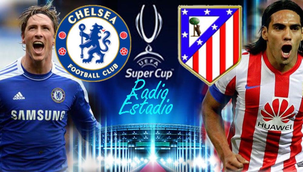 Escudos Supercopa, Chelsea - Atlético de Madrid