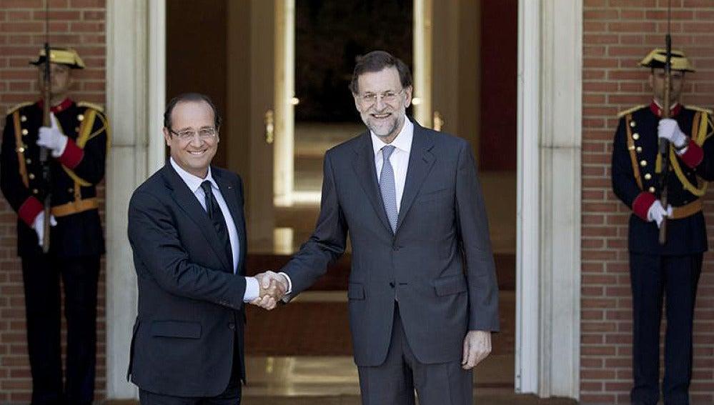 Hollande y Rajoy en La Moncloa
