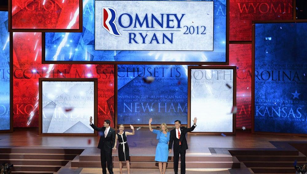 Mitt Romney y Paul Ryan, candidatos republicanos oficiales