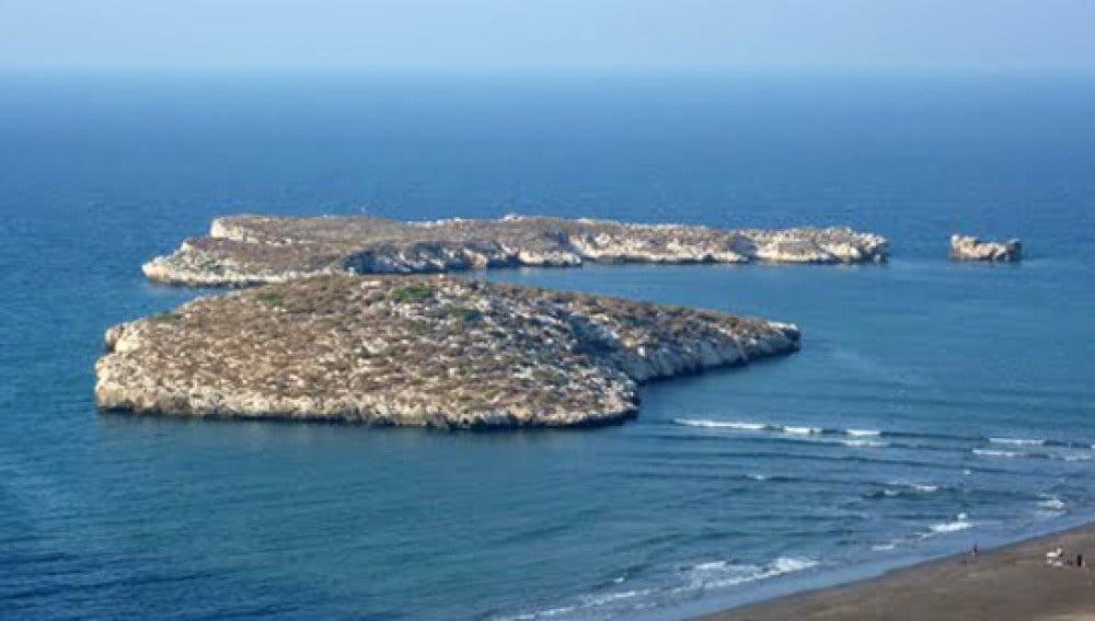 Isla de Tierra, en el archipiélago de Alhucemas
