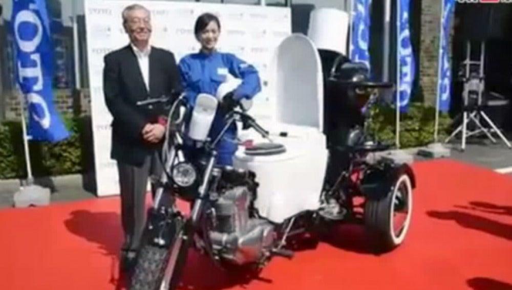 Motocicleta que funciona con excrementos