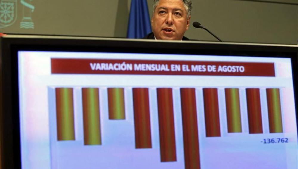 El secretario de Seguridad Social, Tomás Burgos, durante la rueda de prensa