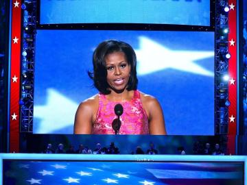Michelle Obama abre la Convención Demócrata