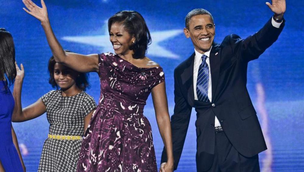 Obama acepta la nominación del Partido Demócrata para repetir mandato