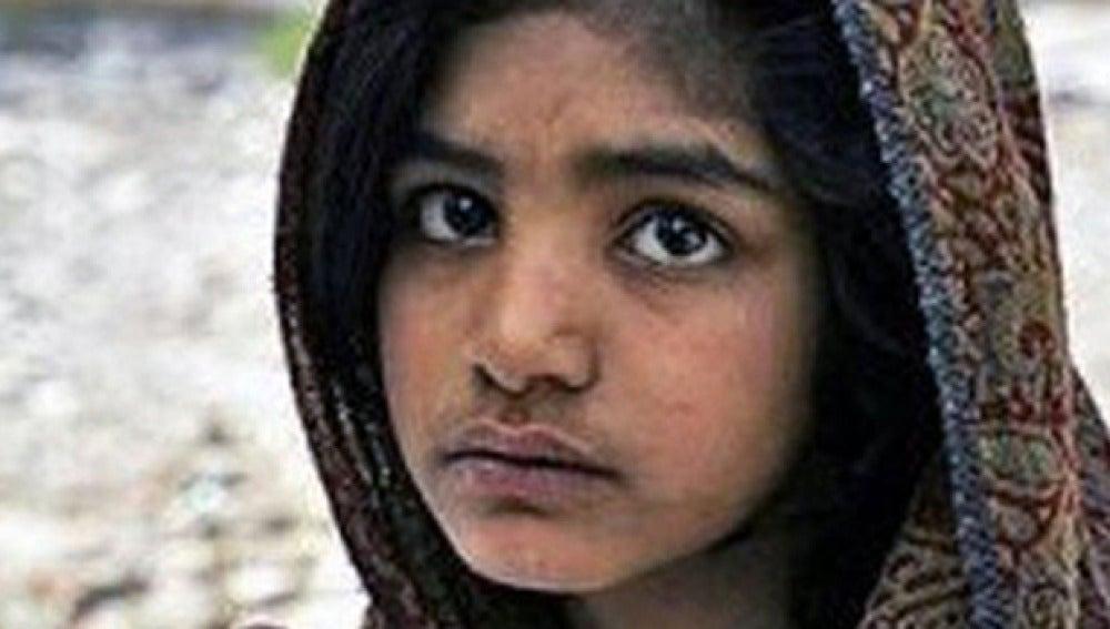 La menor paquistaní, en una imagen difundida por una ONG
