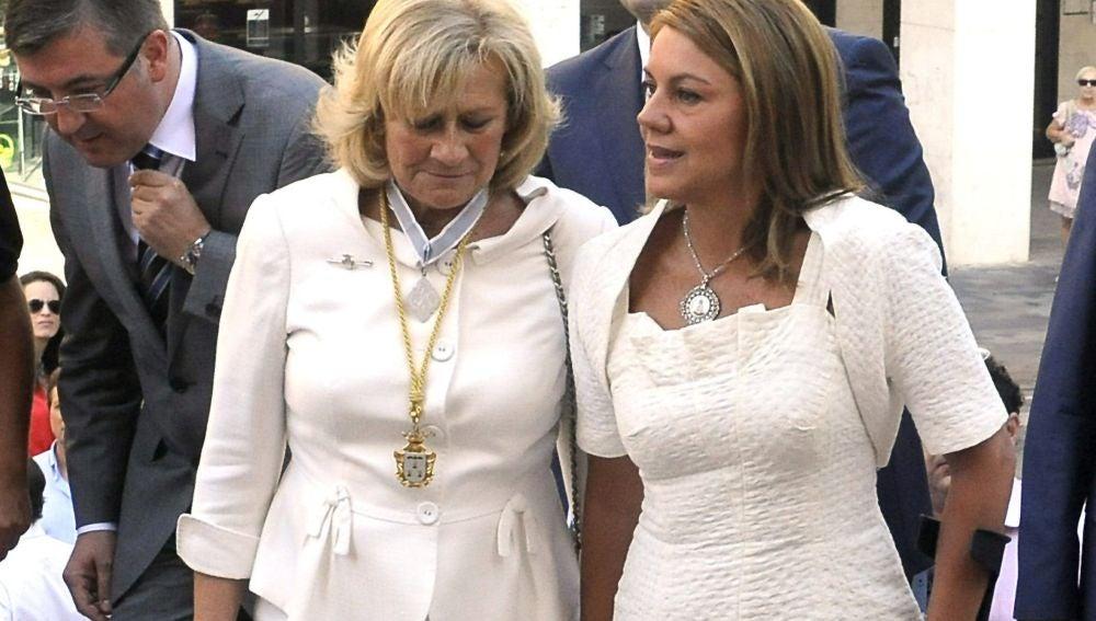 Cospedal  al entrar a la misa en honor a la patrona de Albacete