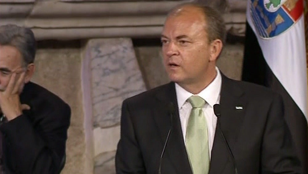 Monago, durante su discurso en el Día de Extremadura