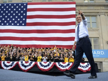 Obama en la universidad de Iowa