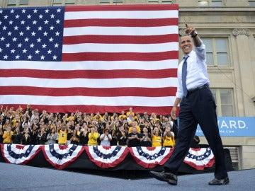 Obama en la universidad de Iowa
