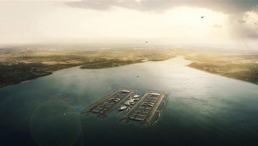 Posible aeropuerto flotante en Londres