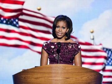 La primera dama de EEUU en la clausura de la convención del partido Demócrata