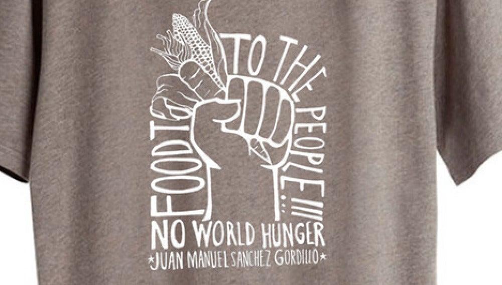 Camiseta dedicada a las acciones de Gordillo