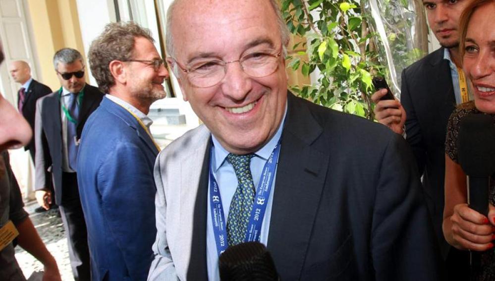 El vicepresidente de la Comisión Europea, Joaquín Almunia