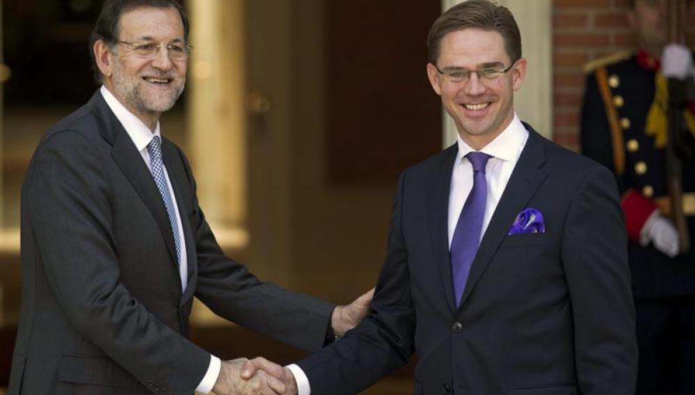 Rajoy y el Primer Ministro finés