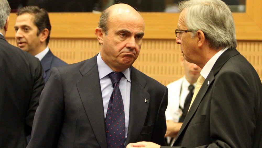 Luis de Guindos en la reunión del Eurogrupo