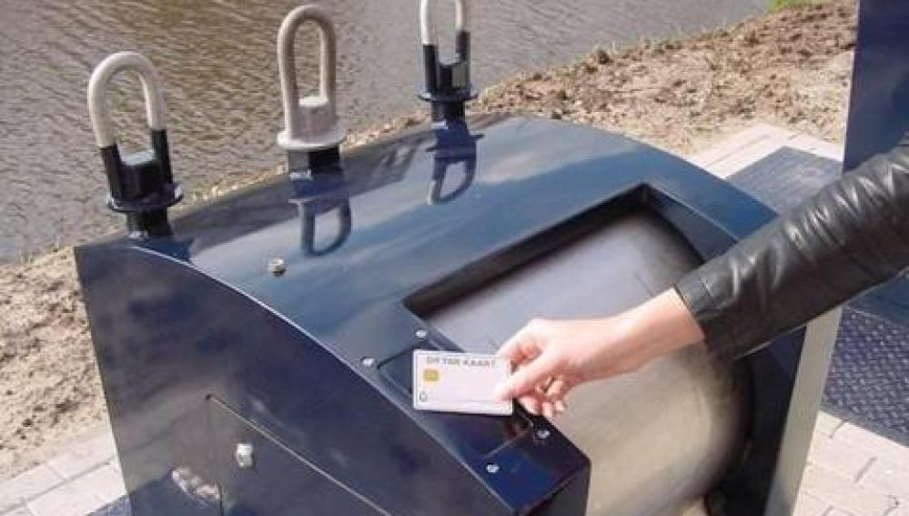 Cubos de basura inteligentes en Holanda