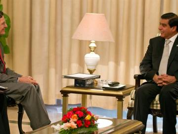 Entrevista al primer ministro de Pakistán, Raja Pervez Ashraf
