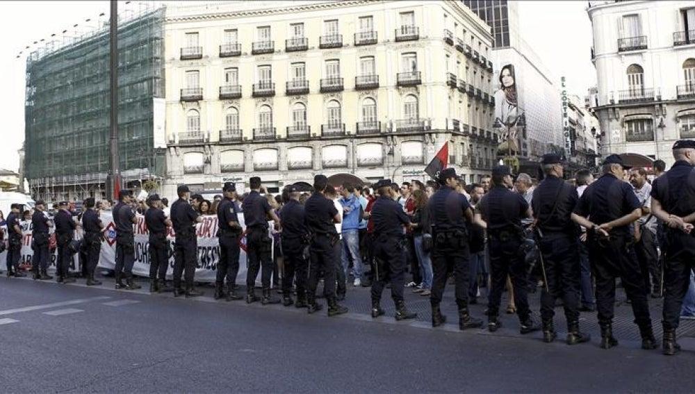 Miles de personas se manifiestan en el centro de Madrid