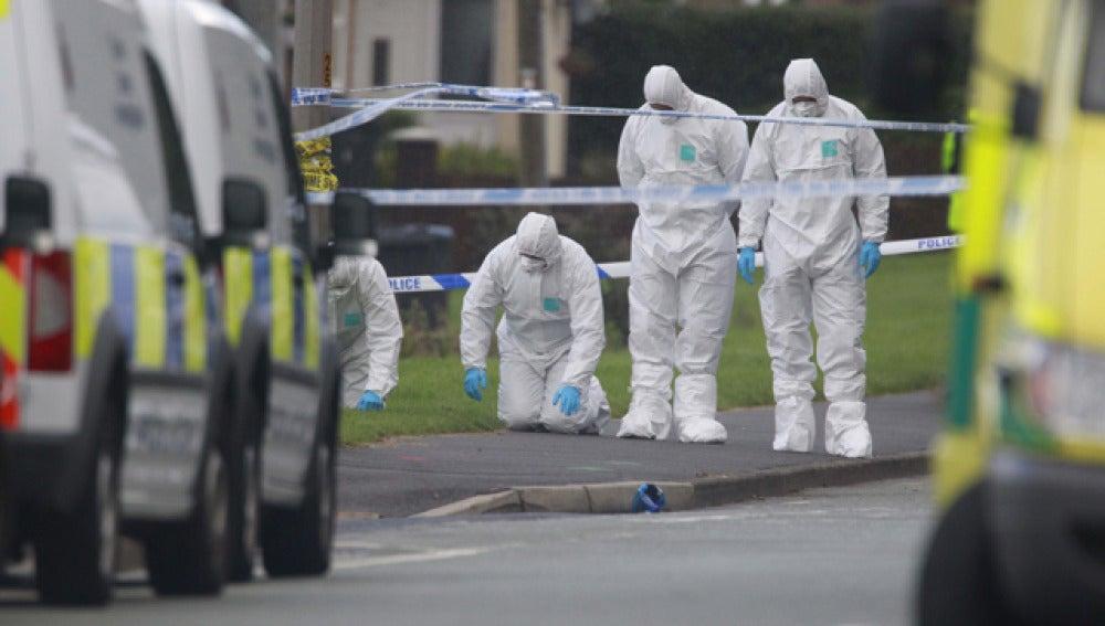 La Policía investiga en el lugar del tiroteo