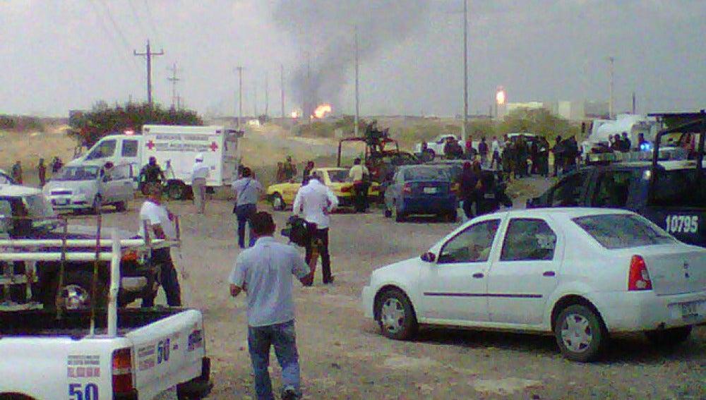 Incendio en Reynosa, México