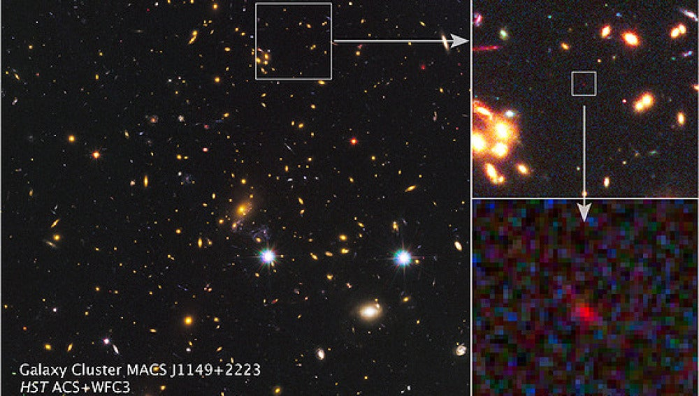 Imagen de la galaxia descubierta