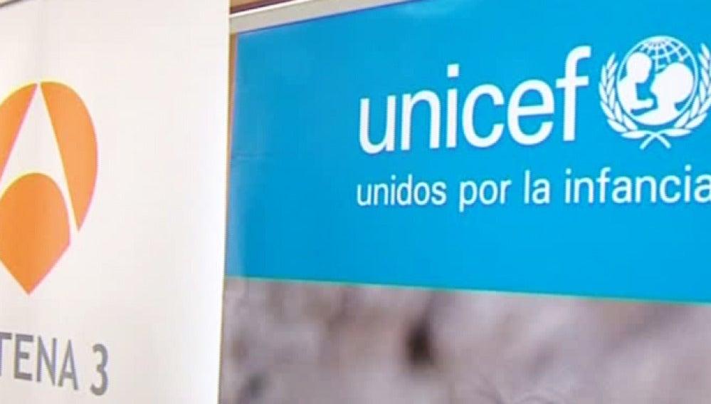 UNICEF y el grupo Antena 3 unidos por una buena causa