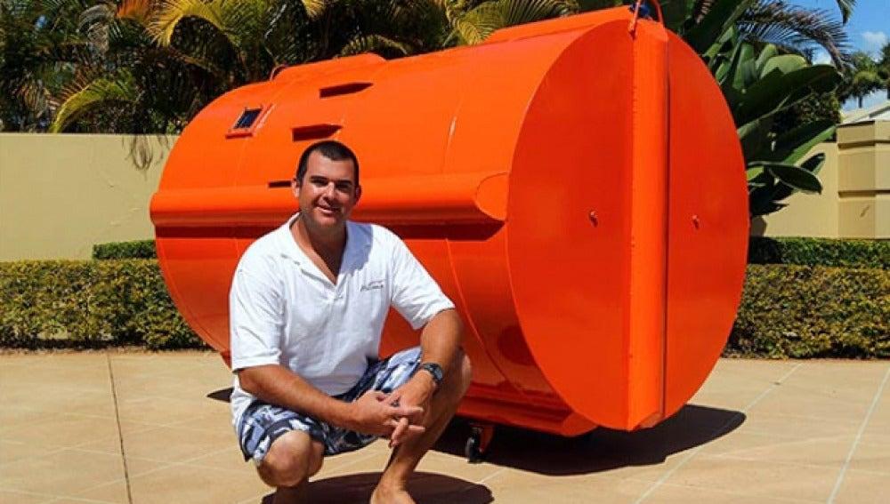Cápsula para sobrevivir a tsunamis