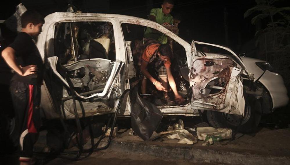 Tres milicianos palestinos muertos en un ataque israelí en Gaza