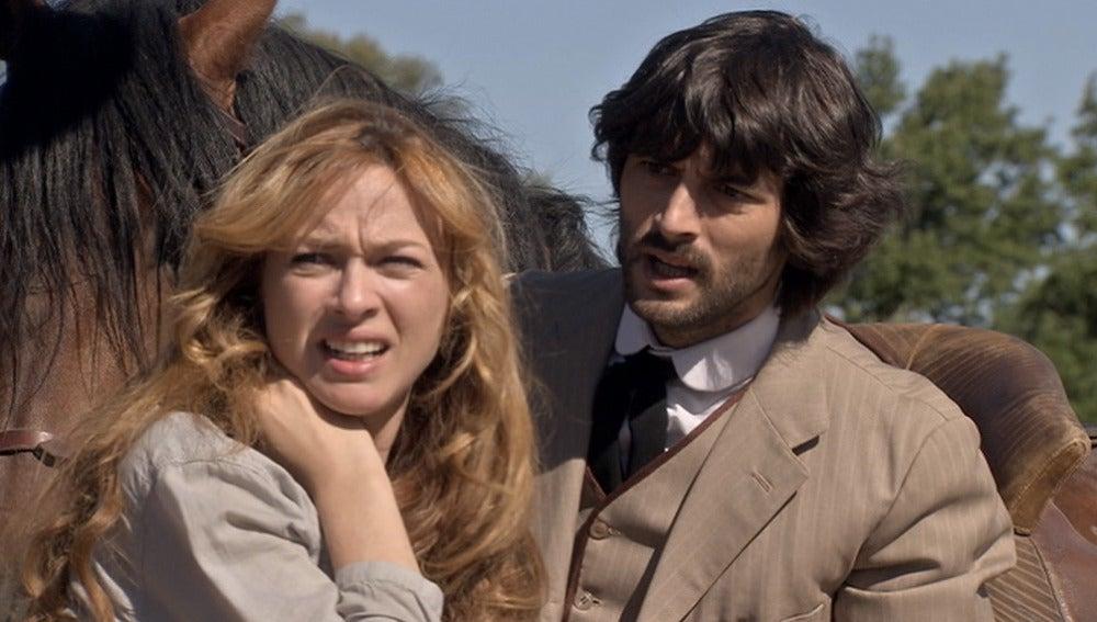 Raúl salva a tiempo a Sara y a sus viñedos de las manos de César