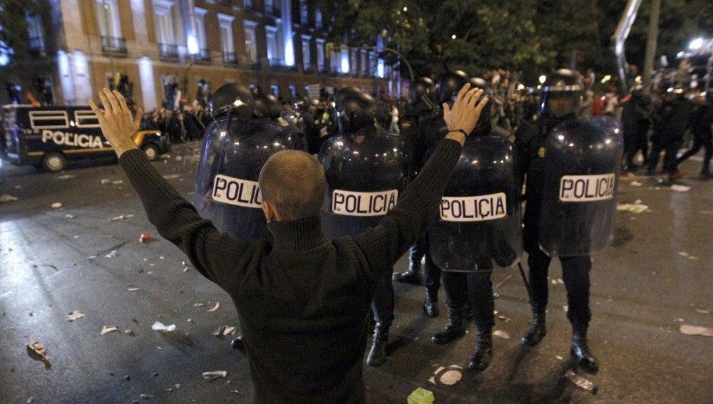 Cargas policiales durante el 25-S