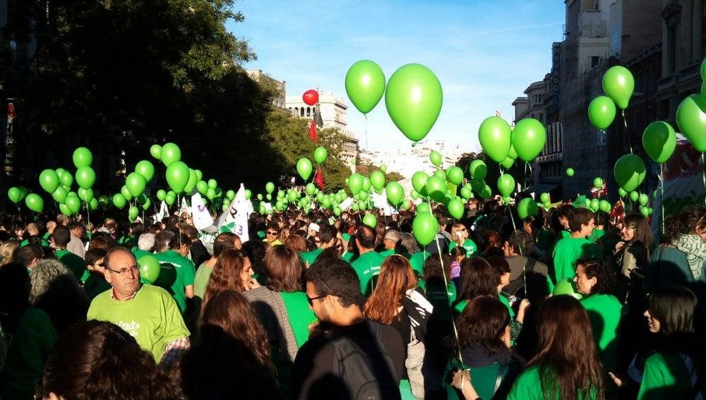 Manifestación de la 'marea verde'