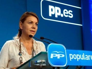 María Dolores de Cospedal ha hecho balance del primer año tras las elecciones generales