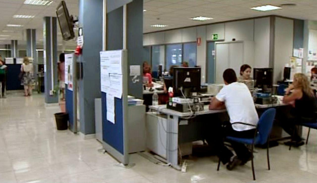 Oficina de desempleo.