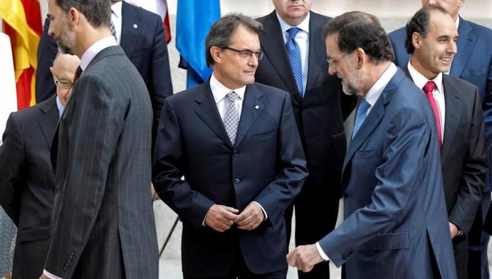 Artur Mas, antes del posado oficial de la Conferencia de Presidentes