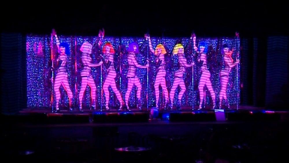 El espectáculo del cabaret, con Crazy Horse