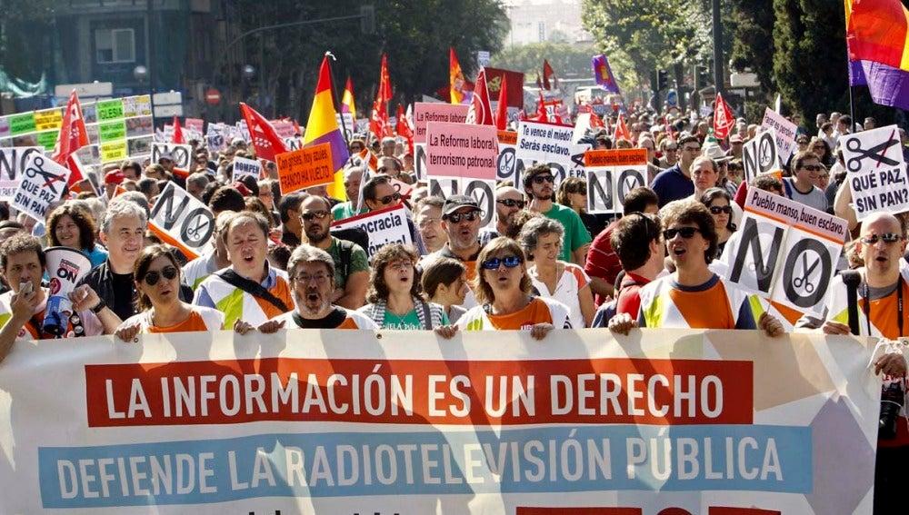 La manifestación de la Cumbre Social en Madrid