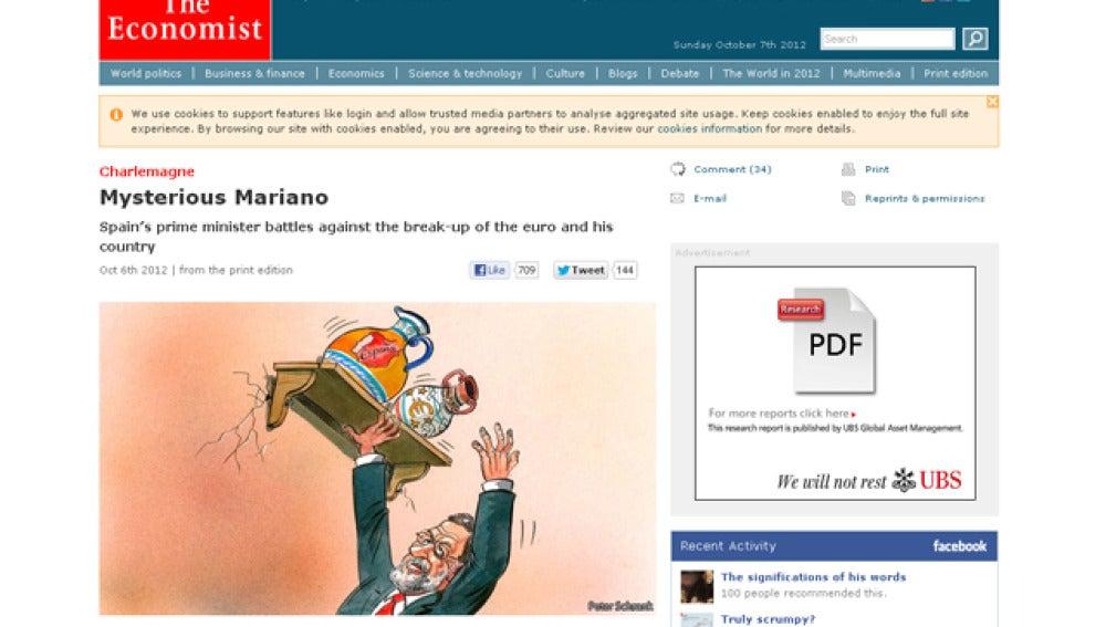 The Economist, sobre Mariano Rajoy