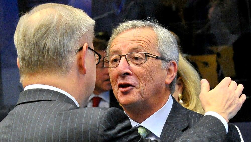 Jean Claude Juncker, antes de la reunión de los ministros de Economía de la zona euro.