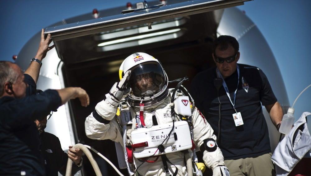 Felix Baumgartner en la misión