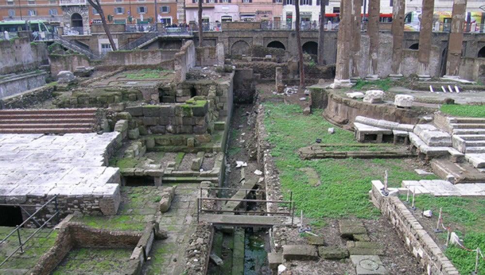 Lugar donde murió apuñalado Julio César