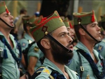 Legionarios durante la Fiesta Nacional